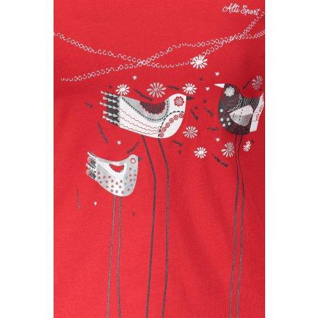 Dámské triko s dlouhým rukávem ALTISPORT ALW043169 ČERVENÁ