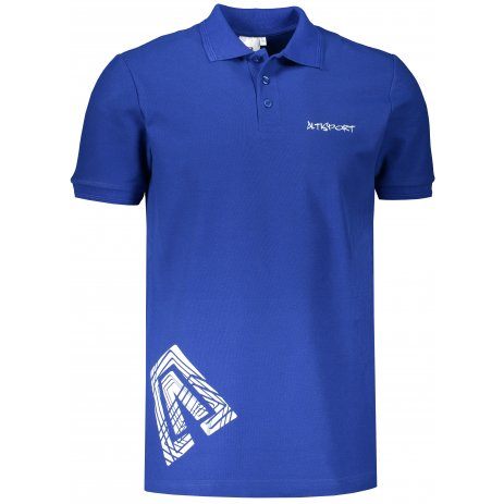 Pánské triko s límečkem ALTISPORT ALM013203 KRÁLOVSKÁ MODRÁ