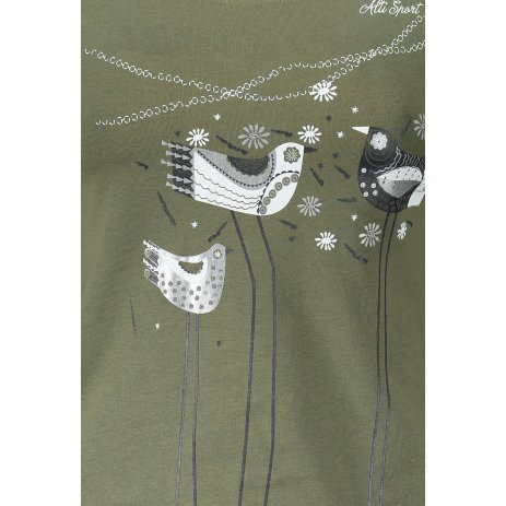 Dámské triko s dlouhým rukávem ALTISPORT ALW043169 KHAKI