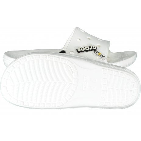 Pánské pantofle CROCS CLASSIC CROCS SLIDE 206121-100 WHITE
