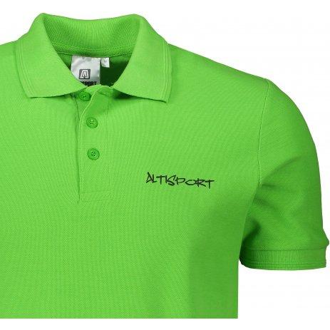 Pánské triko s límečkem ALTISPORT ALM013203 APPLE GREEN