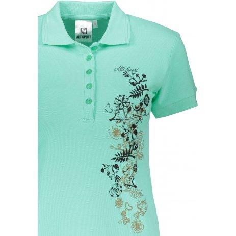 Dámské triko s límečkem ALTISPORT ALW029210 MÁTOVÁ