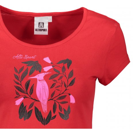 Dámské triko ALTISPORT ALW045122 ČERVENÁ
