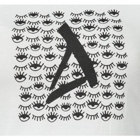 Dámské triko ALTISPORT ALW040122 BÍLOČERNÁ