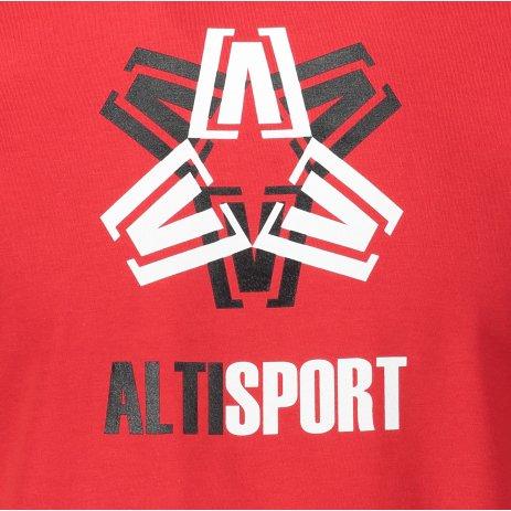 Pánské triko ALTISPORT ALM046129 ČERVENÁ