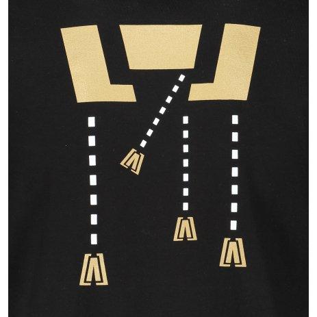 Pánské triko ALTISPORT ALM048129 ČERNOZLATÁ