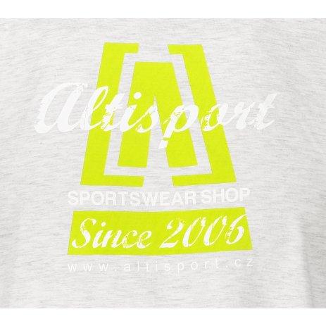 Pánské triko ALTISPORT ALM047129 SVĚTLE ŠEDÝ MELÍR