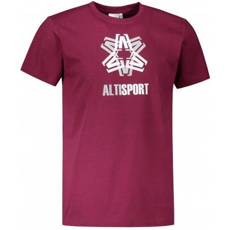 Pánské triko ALTISPORT ALM046129 FUCHSIOVÁ