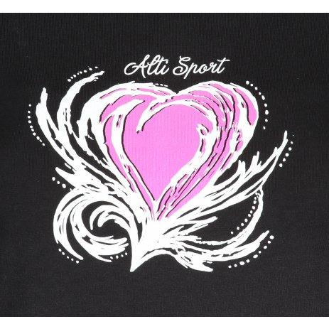 Dámské triko ALTISPORT ALW061122 ČERNORŮŽOVÁ