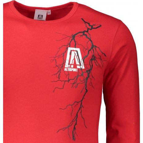 Pánské triko s dlouhým rukávem ALTISPORT ALM027119 ČERVENÁ