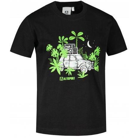 Dětské triko ALTISPORT ALK059138 ČERNÁ
