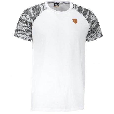 Pánské triko s krátkým rukávem SAM 73 DARREN MT 771 BÍLÁ/ŠEDÁ