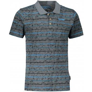 Pánské triko s límečkem ALTISPORT LEVIN MTST646 TMAVĚ ŠEDÁ
