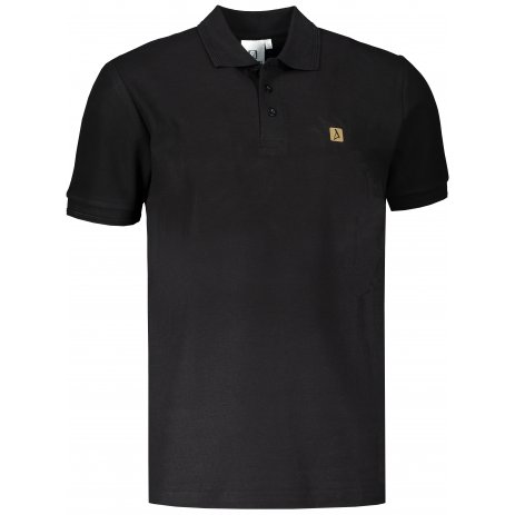 Pánské triko s límečkem ALTISPORT ALM065203 ČERNOZLATÁ