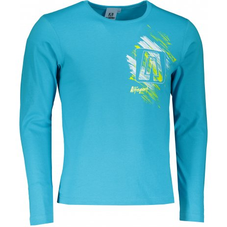 Pánské triko s dlouhým rukávem ALTISPORT ALM032119 TYRKYSOVÁ