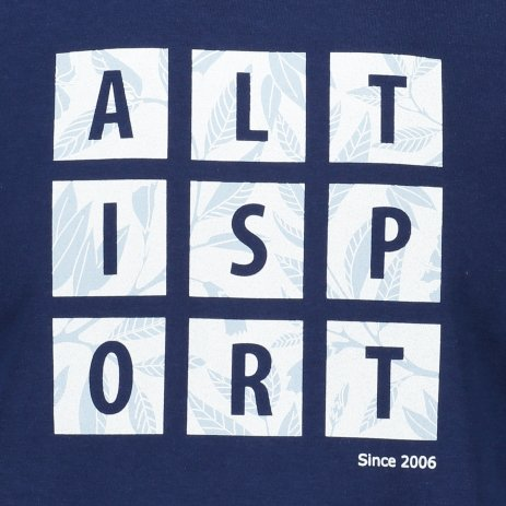 Pánské triko ALTISPORT ALM063129 PŮLNOČNÍ MODRÁ/BÍLÁ