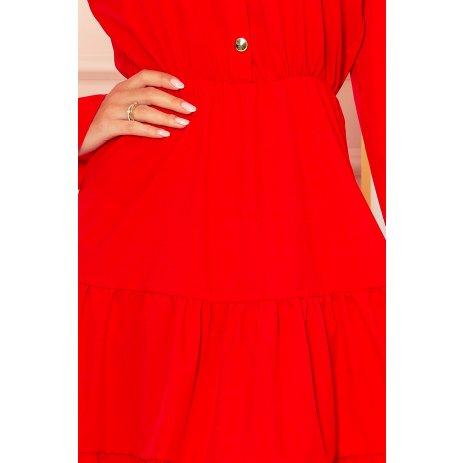 Dámské šaty NUMOCO A332-2 ČERVENÁ
