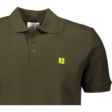 Pánské triko s límečkem ALTISPORT ALM065203 MILITARY