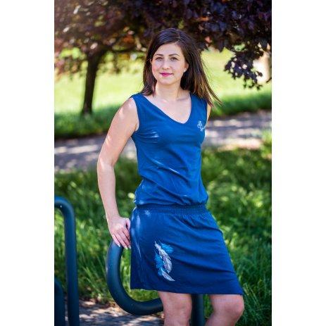 Dámské šaty ALTISPORT NYONA LSKT329 TMAVĚ MODRÁ