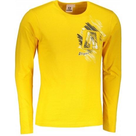 Pánské triko s dlouhým rukávem ALTISPORT ALM032119 ŽLUTÁ
