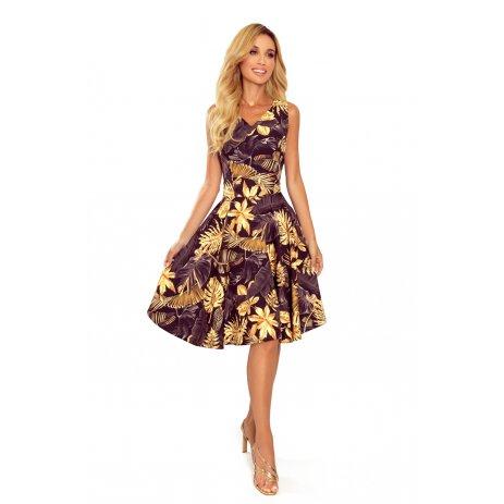Dámské šaty NUMOCO A114-13 ČERNOZLATÁ