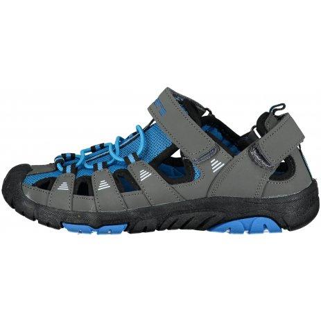 Chlapecké sandále SAM 73 SEBBO KBTT295 ŠEDÁ/MODRÁ