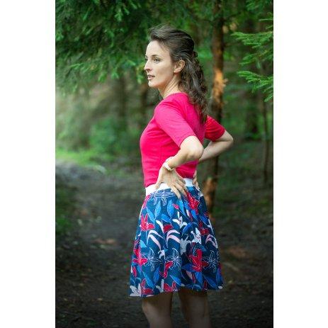 Dámská sukně ALTISPORT SEVIA LSKT328 TMAVĚ MODRÁ