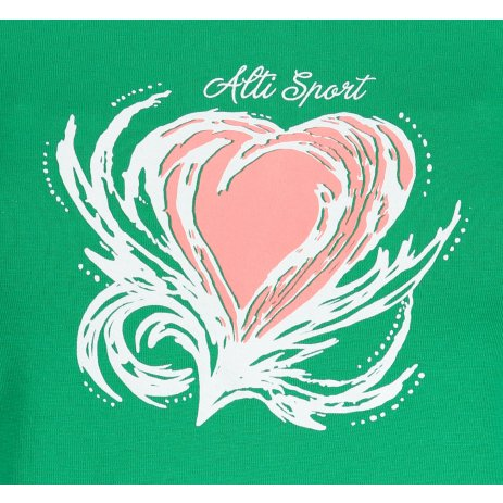 Dámské triko ALTISPORT ALW061122 STŘEDNĚ ZELENÁ