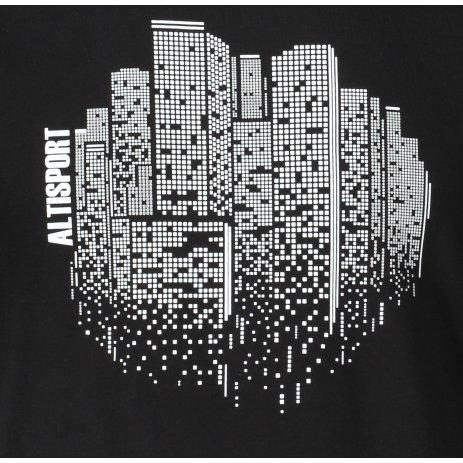 Pánské triko ALTISPORT ALM060129 ČERNOBÍLÁ