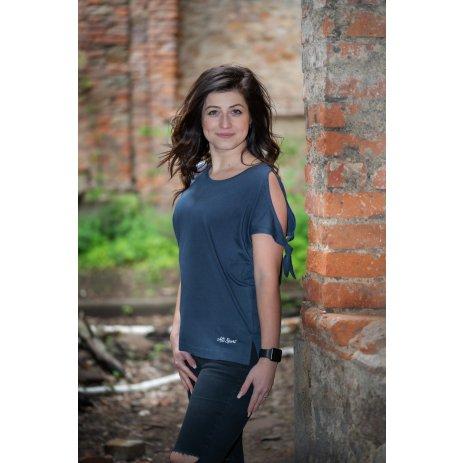 Dámské triko s krátkým rukávem ALTISPORT TRUDA LTST773 TMAVĚ MODRÁ