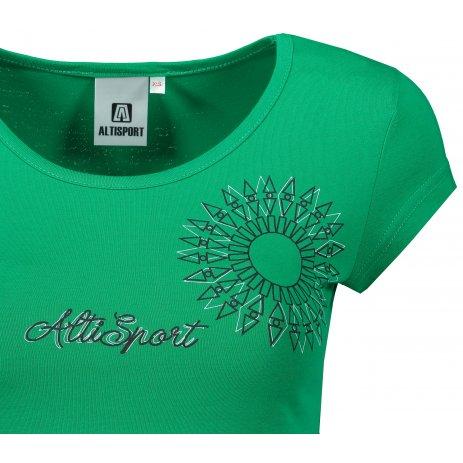 Dámské triko ALTISPORT ALW024122 STŘEDNĚ ZELENÁ