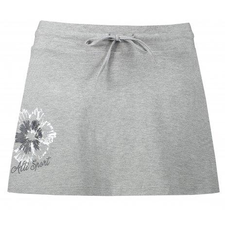 Dámská sukně ALTISPORT ALW016604 TMAVĚ ŠEDÝ MELÍR