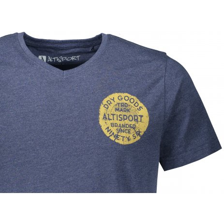 Pánské triko ALTISPORT SOSIM MTST651 TMAVĚ MODRÁ