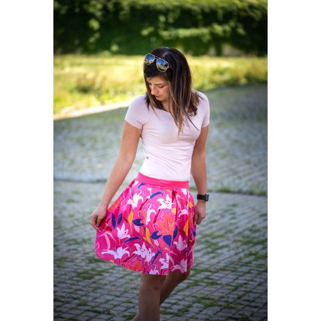 Dámská sukně ALTISPORT SEVIA LSKT328 RŮŽOVÁ