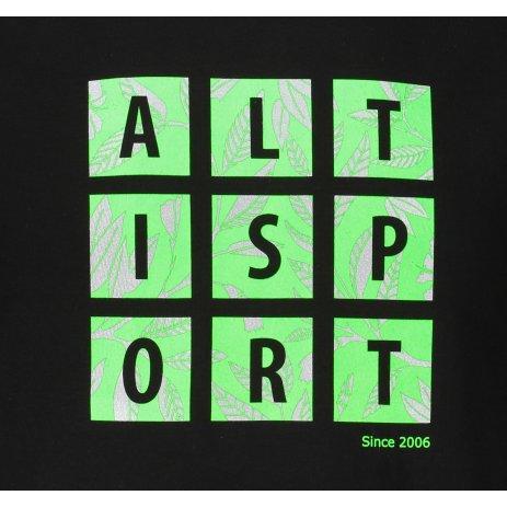 Pánské triko ALTISPORT ALM063129 ČERNOZELENÁ