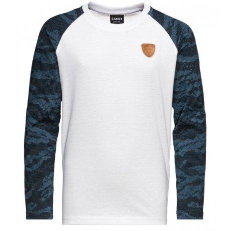 Chlapecké triko s dlouhým rukávem  SAM 73 STUART BT 547 TMAVĚ MODRÁ