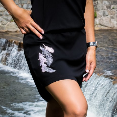 Dámské šaty ALTISPORT NYONA LSKT329 ČERNÁ