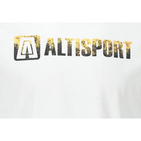Pánské triko ALTISPORT AURIT MTST642 BÍLÁ