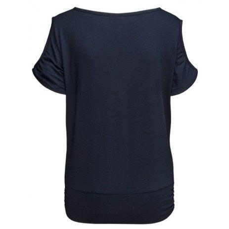 Dámské triko s krátkým rukávem SAM 73 JULIA WT 822 TMAVĚ MODRÁ