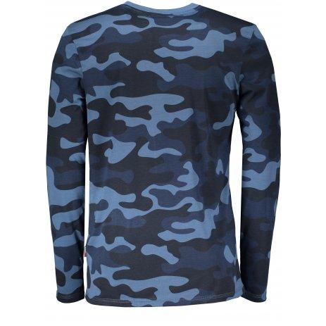 Pánské triko s dlouhým rukávem SAM 73 REGGIE MT 775 TMAVĚ MODRÁ