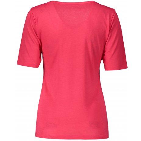 Dámské triko s krátkým rukávem ALTISPORT ARICA LTST772 TMAVĚ RŮŽOVÁ