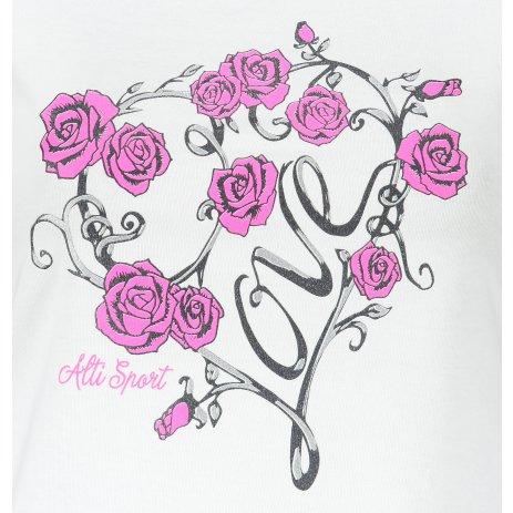 Dámské triko ALTISPORT ALW062122 BÍLÁ
