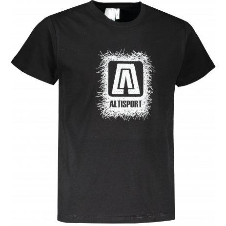 Pánské triko ALTISPORT ALM064129 ČERNOBÍLÁ