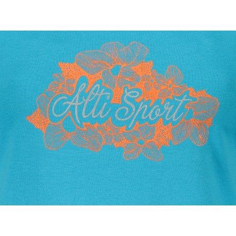 Dámské triko ALTISPORT ALW057122 TYRKYSOVÁ