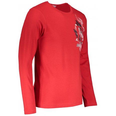 Pánské triko s dlouhým rukávem ALTISPORT ALM032119 ČERVENÁ