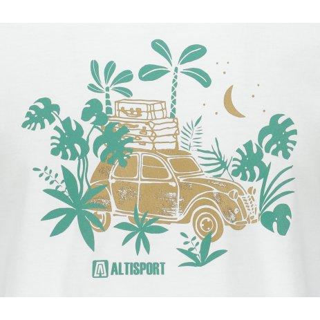 Pánské triko ALTISPORT ALM059129 BÍLÁ