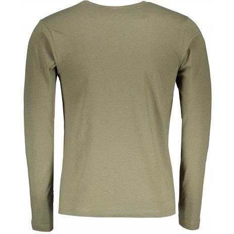Pánské triko s dlouhým rukávem ALTISPORT ALM032119 KHAKI