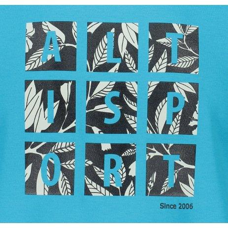 Pánské triko ALTISPORT ALM063129 TYRKYSOVÁ