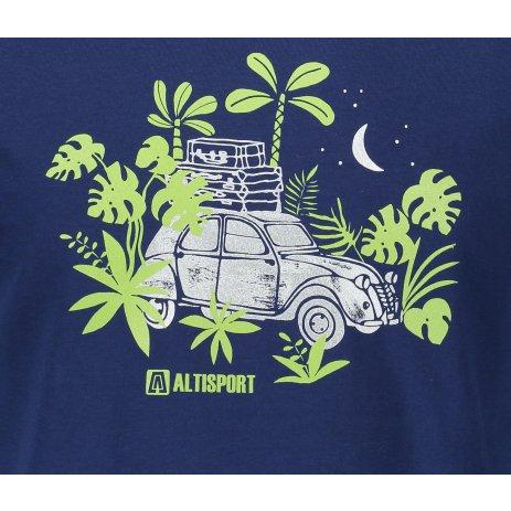 Pánské triko ALTISPORT ALM059129 PŮLNOČNÍ MODRÁ