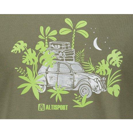 Pánské triko ALTISPORT ALM059129 KHAKI